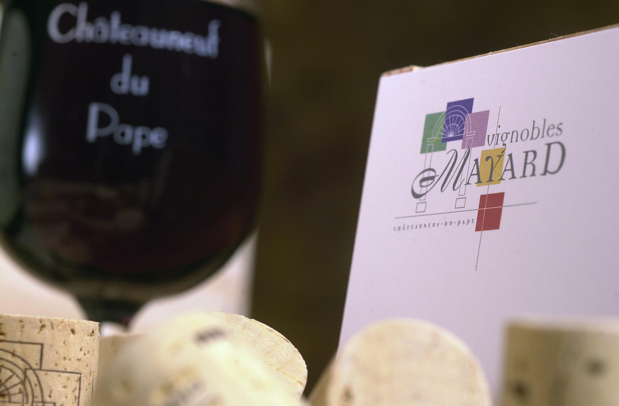 Verre de Chateauneuf du Pape
