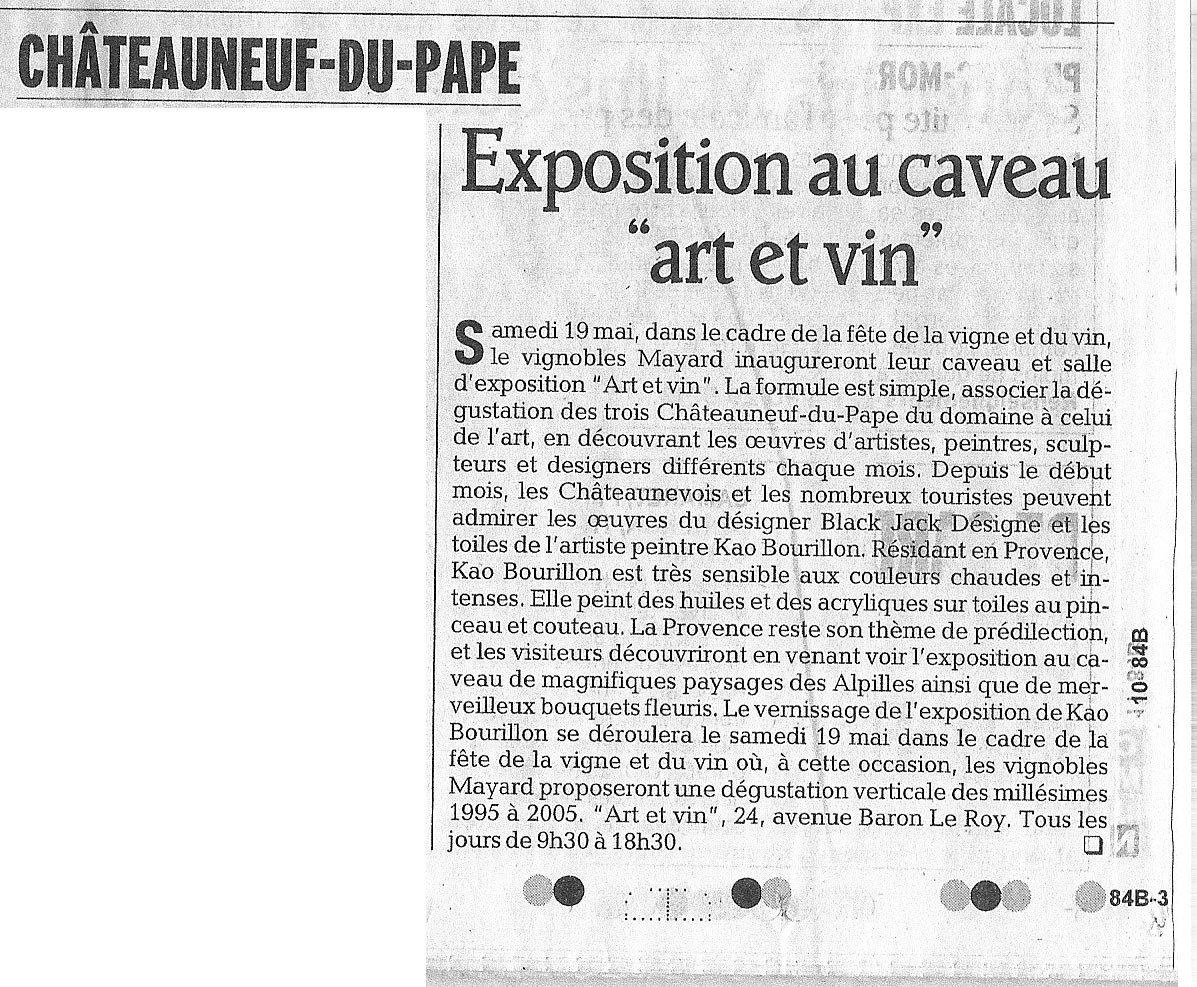Vaucluse Matin du samedi 12 mai 2007
