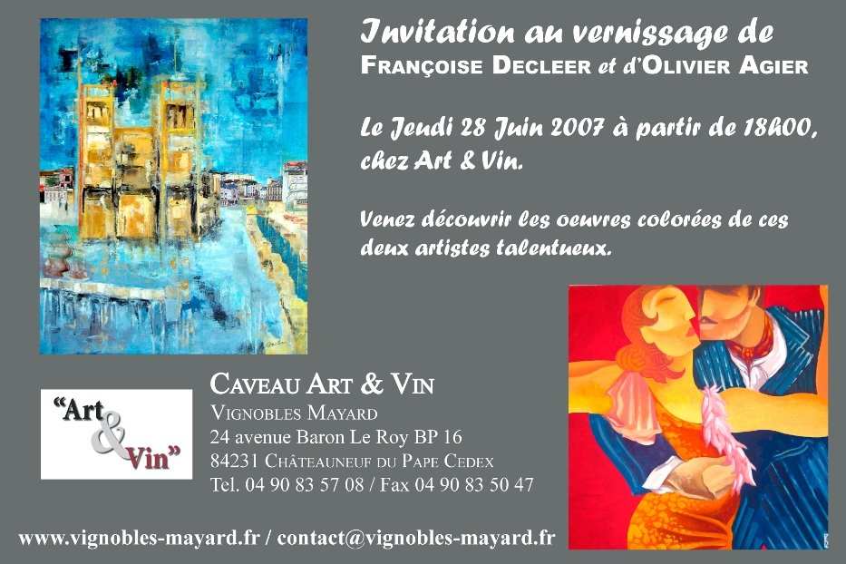 Art contemporain, Vernissage du 28 juin 2007
