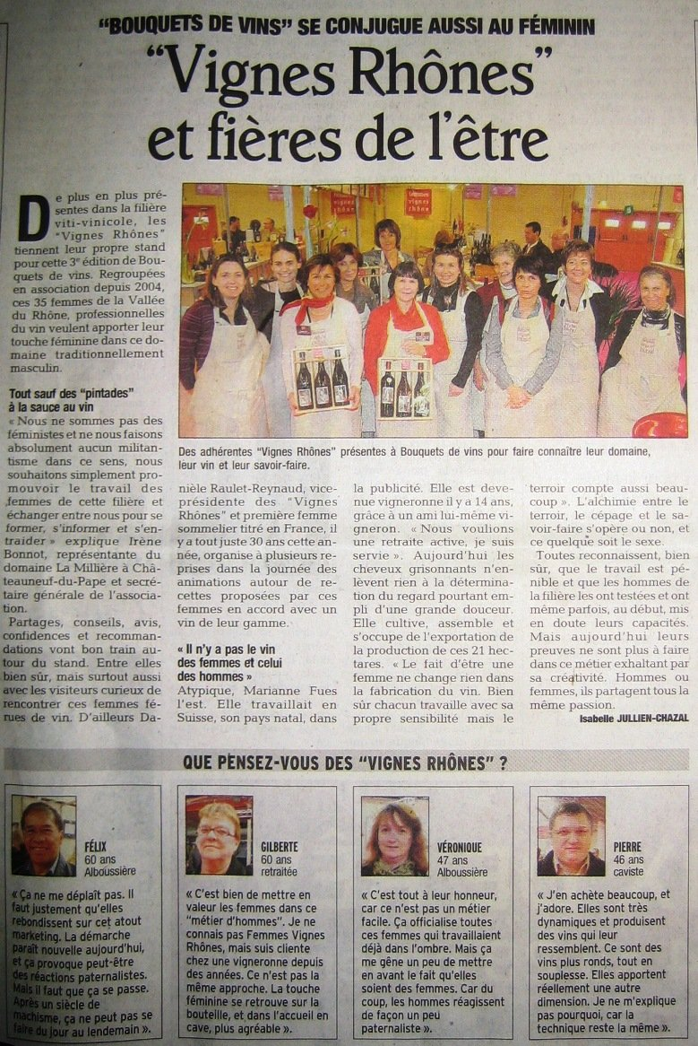 article presse Bouquets de Vins