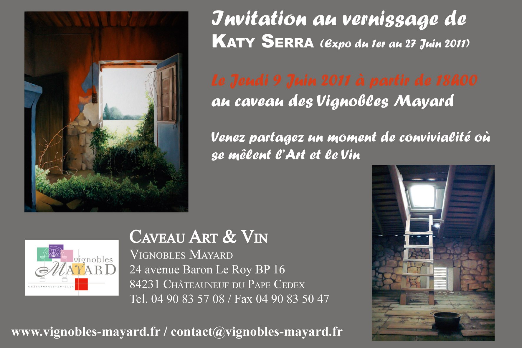Invitation vernissage Katy Serra