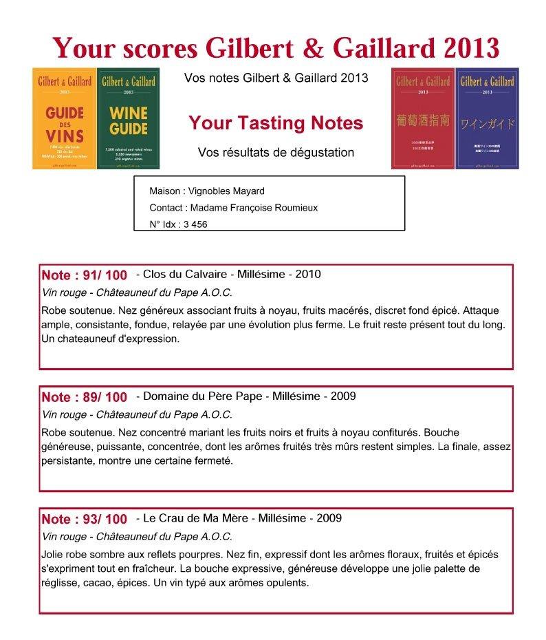 Notes de Gilbert & Gaillard sur les millésimes 2009 & 2010. dans Revue de presse - Actualité presse Compte-rendu_Vignobles_Mayard-copie