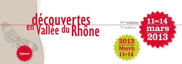 I N V I T A T I O N - 11 et 12 mars 2013 - Découvertes en Vallée du Rhône dans Actu du domaine dans la vigne et dans la cave dvr1
