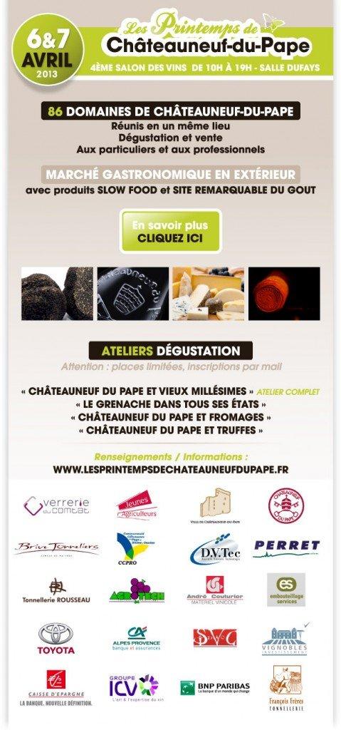 Printemps de Châteauneuf du Pape 2013 : Retrouvez les Vignobles Mayard sur le stand 42 dans Agenda des salons printemps