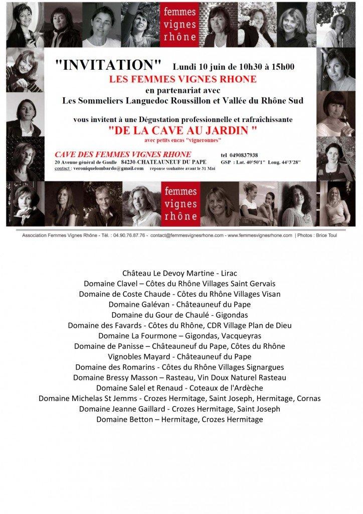 Journée dégustation professionnelle des Femmes Vignes Rhône le lundi 10 juin 2013. dans Agenda des salons invitation-10-juin-20131